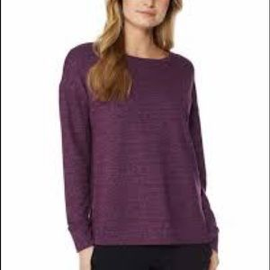 32 Degrees Purple long Sleeves fleece top NWT